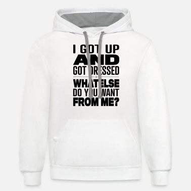 Funny Funny Sayings - Unisex Two-Tone Hoodie