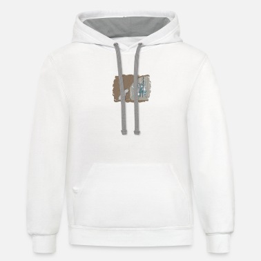 Caribbean Hitchhikers of the Caribbean - Unisex Two-Tone Hoodie