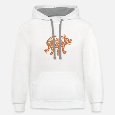 Aztec Animal - Unisex Two-Tone Hoodie