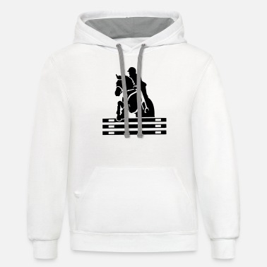 Show Jumping Show jumping - Unisex Two-Tone Hoodie