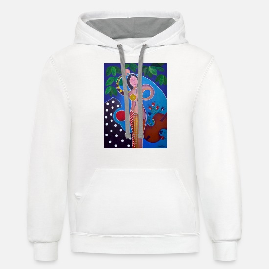 Eva Hoodies & Sweatshirts - EVA - Unisex Two-Tone Hoodie white/gray