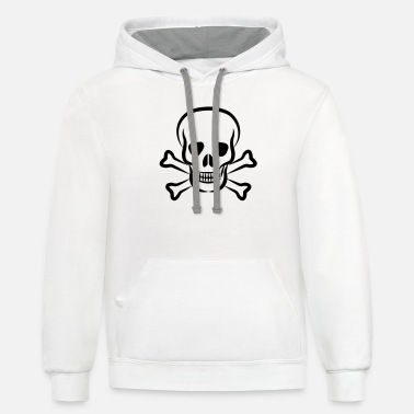 Crossbones Skull and Crossbones - Unisex Two-Tone Hoodie