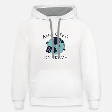 Traveller Addicted To Travel - Unisex Two-Tone Hoodie