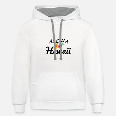 Hawaii Aloha Hawaii - Hawaii - Candid Awe - Unisex Two-Tone Hoodie