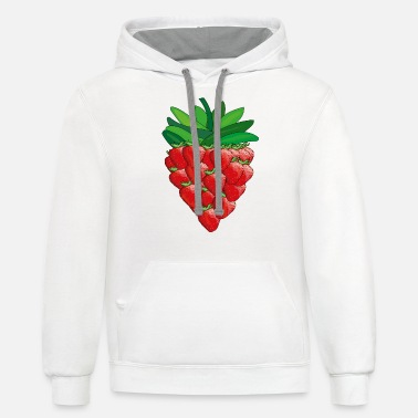 strawberry - Unisex Two-Tone Hoodie