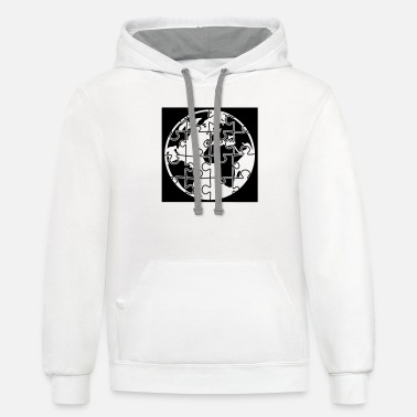 Puzzle puzzle planet part earth world puzzle puzzle piece - Unisex Two-Tone Hoodie