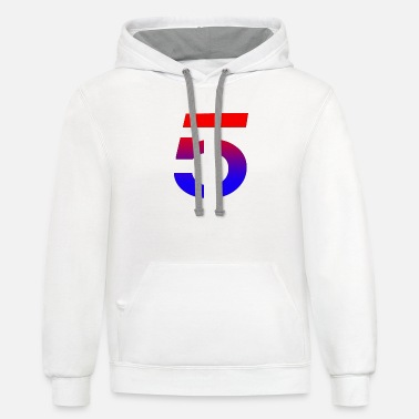 Number 5 Shirt - Unisex Two-Tone Hoodie
