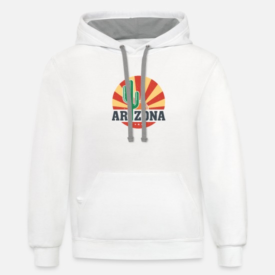 Arizona Hoodies & Sweatshirts - Arizona Cactus - Unisex Two-Tone Hoodie white/gray