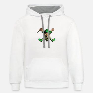 Old Gnome - Unisex Two-Tone Hoodie