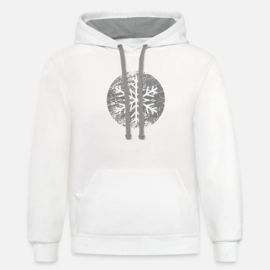 Snow Star - Unisex Two-Tone Hoodie