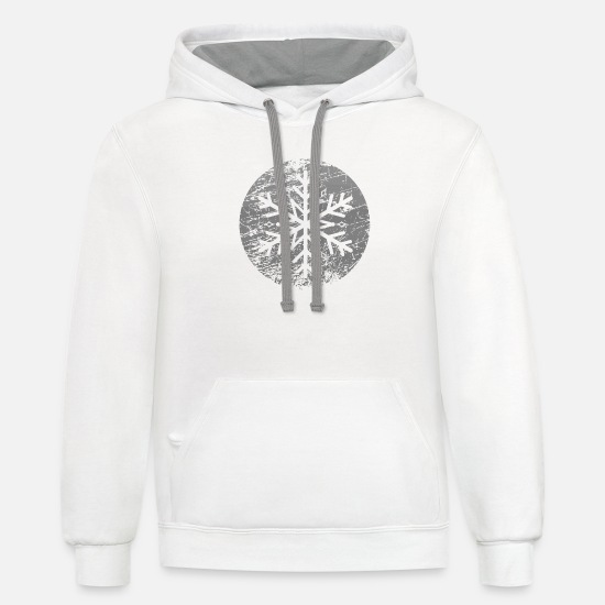 Snowflake Hoodies & Sweatshirts - Snow Star - Unisex Two-Tone Hoodie white/gray