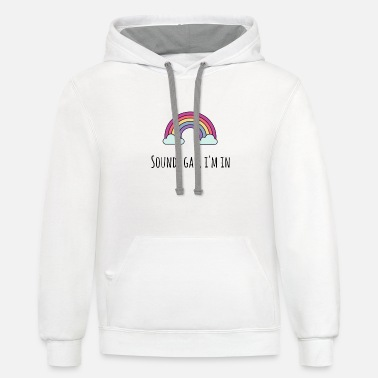 Sounds Gay I m In - Unisex Two-Tone Hoodie