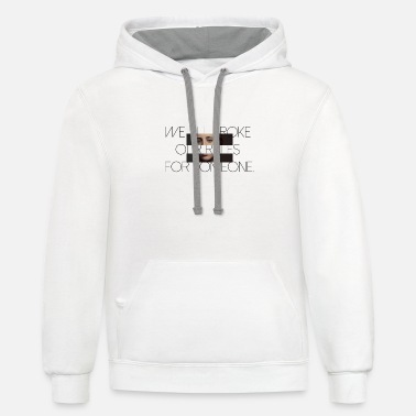 we all brok - Unisex Two-Tone Hoodie