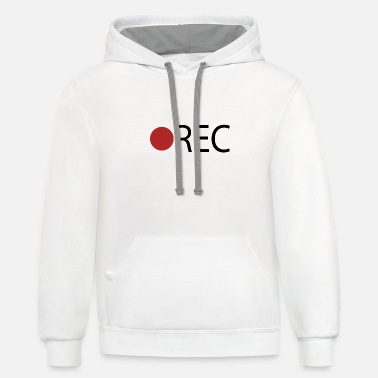 Record REC Record Recording - Unisex Two-Tone Hoodie