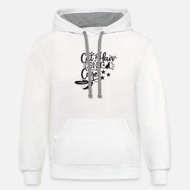 Hairstyle Cat Hair Don t Care - Unisex Two-Tone Hoodie