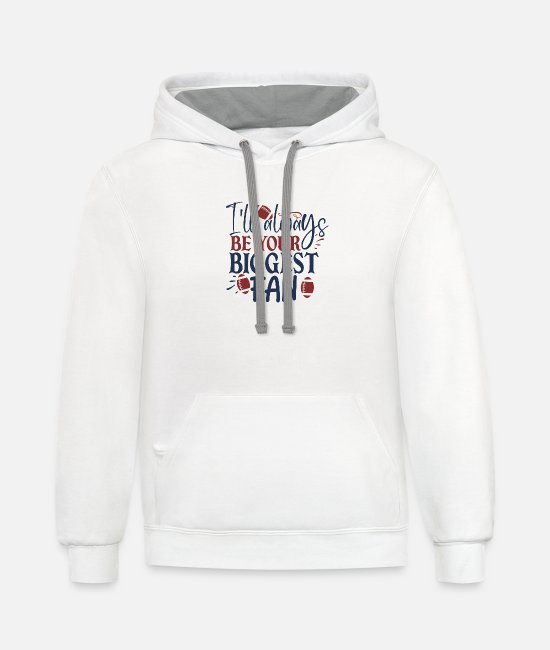 Fan Art Hoodies & Sweatshirts - I ll always be your biggest fan - Unisex Two-Tone Hoodie white/gray