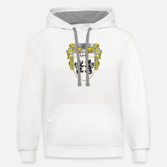 Family Reunion Hoodies & Sweatshirts - carter_coat_of_arms_mantled - Unisex Two-Tone Hoodie white/gray
