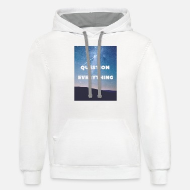 Question Everything - Unisex Two-Tone Hoodie