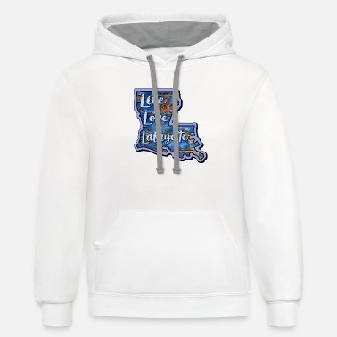 L L L Blue Wood - Unisex Two-Tone Hoodie