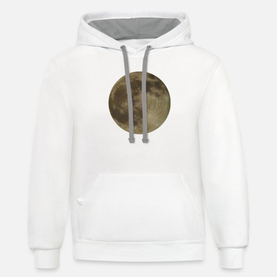Full Moon Hoodies & Sweatshirts - Full Moon - Unisex Two-Tone Hoodie white/gray