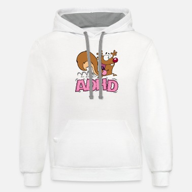 Mascot ADHD Squirrel - Unisex Two-Tone Hoodie