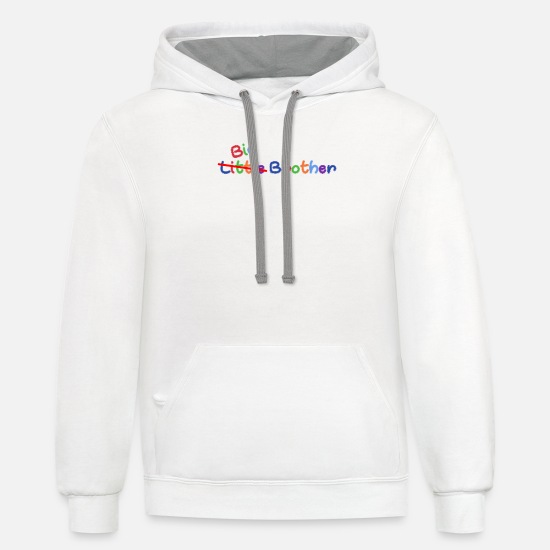 Big Hoodies & Sweatshirts - Little Big Brother - Unisex Two-Tone Hoodie white/gray
