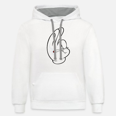 Dope Smoke Dope - Unisex Two-Tone Hoodie