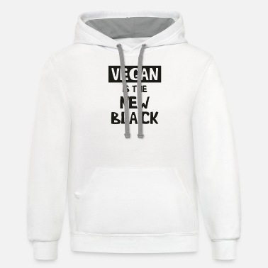 Vegan Is The New Black Funny Tshirt - Unisex Two-Tone Hoodie
