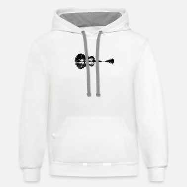 Trees Nature Guitar - Unisex Two-Tone Hoodie