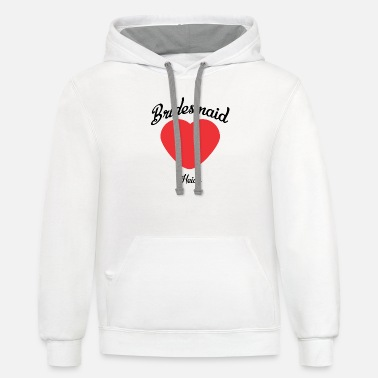 Heide Bridesmaid love heide - Unisex Two-Tone Hoodie