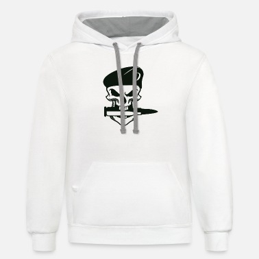 the skull bites the sword - Unisex Two-Tone Hoodie