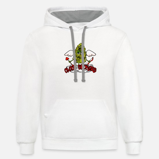 Weed Hoodies & Sweatshirts - Cupid Gram - Unisex Two-Tone Hoodie white/gray
