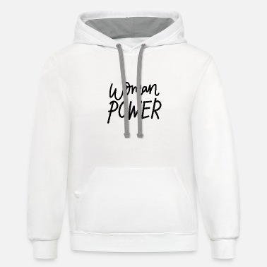 Power Woman power - Unisex Two-Tone Hoodie