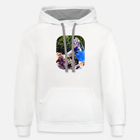 Band Hoodies & Sweatshirts - Reflections on a Baritone - Unisex Two-Tone Hoodie white/gray