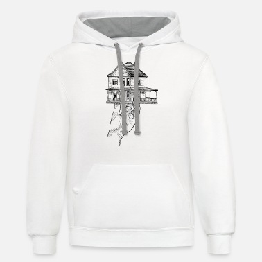 Obstruction House in a Hand - Unisex Two-Tone Hoodie