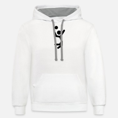 Jump Shot Volley Ball Jump Shot - Unisex Two-Tone Hoodie