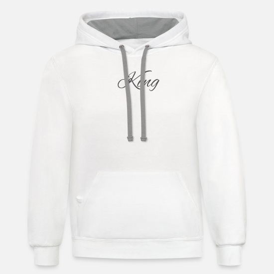 King Hoodies & Sweatshirts - King - Unisex Two-Tone Hoodie white/gray
