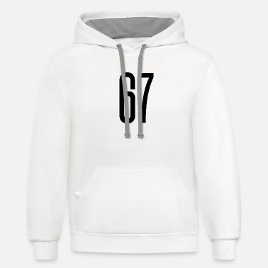 The Number 67 tall number 67 - Unisex Two-Tone Hoodie