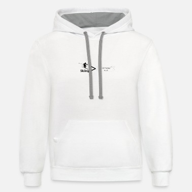 Skiing is live!!!! - Unisex Two-Tone Hoodie