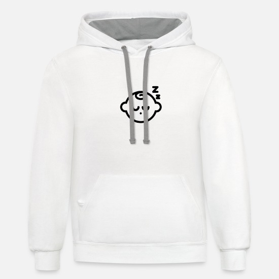 Sleeping Hoodies & Sweatshirts - Baby - Unisex Two-Tone Hoodie white/gray