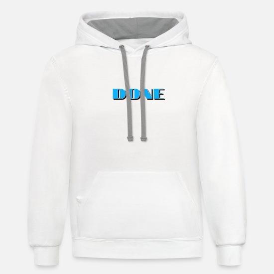 Done Hoodies & Sweatshirts - Done - Unisex Two-Tone Hoodie white/gray