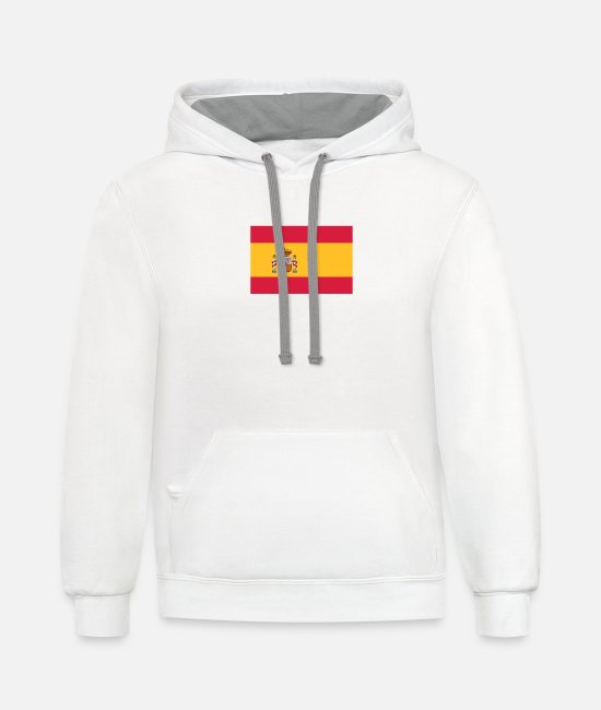 Don Quijote Hoodies & Sweatshirts - National Flag Of Spain - Unisex Two-Tone Hoodie white/gray