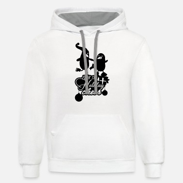 Pour The Holiday Cheer - Unisex Two-Tone Hoodie