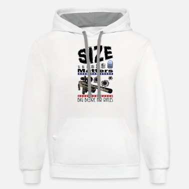 T-shirt Size Matters Big Bore Air Rifles - Unisex Two-Tone Hoodie