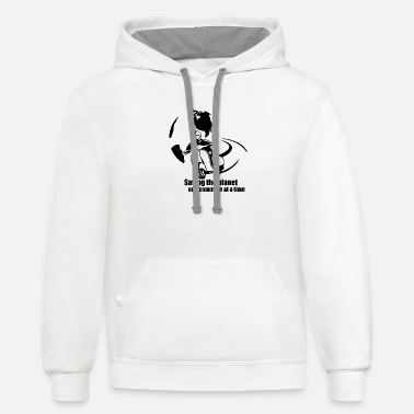 Xmen Men - saving the planet one commute at a time - Unisex Two-Tone Hoodie