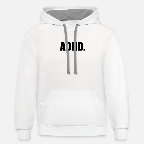 Adhd Hoodies & Sweatshirts - ADHD - Unisex Two-Tone Hoodie white/gray