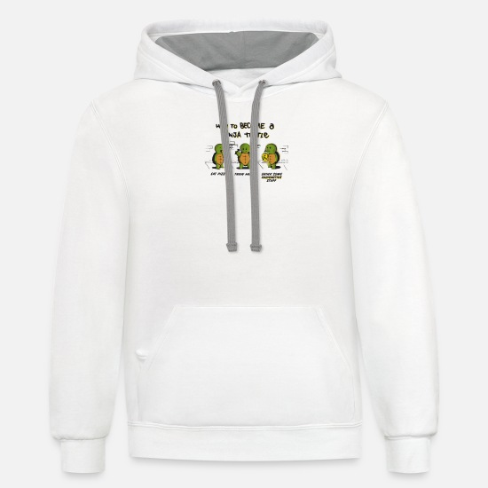 Turtle Hoodies & Sweatshirts - Become A Ninja Turtle - Unisex Two-Tone Hoodie white/gray