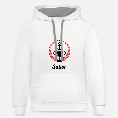 Sailing - Boat - Sailor - Freedom - Unisex Two-Tone Hoodie
