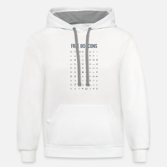 Icon Hoodies & Sweatshirts - icons - Unisex Two-Tone Hoodie white/gray