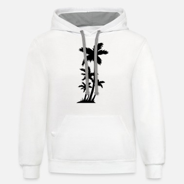 Trees Palm trees - Unisex Two-Tone Hoodie